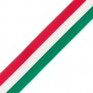 "7/8"" TRIO STRIPE GROSGRAIN-GREEN/RED/WT"
