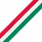 "7/8"" TRIO STRIPE GROSGRAIN-GREEN/RED/WT"