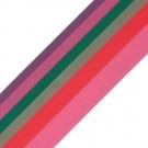 "1 1/2"" MULTI STRIPE GROSGRAIN-PINK MULTI"