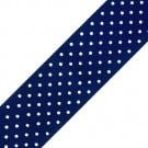 53mm Swiss Dots Chromspun Grosgrain