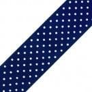 53mm Swiss Dots Chromspun Grosgrain