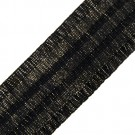"2 1/4"" METALLIC RUFFLED ELASTIC"