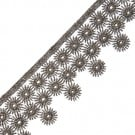 "1 3/4"" FINE METALLIC LACE WITH STARBURST PATTERN"