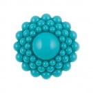 Floral Beaded Button W/Shank