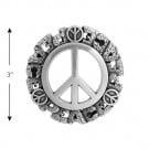 "3"" Peace Sign Buckle"