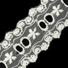 "1 1/4"" EMBROIDERED EYELET LACE ON NET"