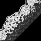 EMBROIDERY SEQUIN LACE ON NET TRIM