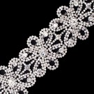 "2""(50mm) Floral Rhinestone Chain Trim"