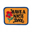 "1 5/8"" X 3 5/8"" HAVE A NICE DAY APPLIQUE"