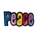 "Iron On Flower ""Peace"" Patch"