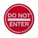 "3"" Do Not Enter Applique"