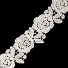 "1 3/4"" (50 MM) Rose Wool Lace"
