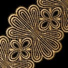 "5 3/4"" (146 MM) Metallic Lace"