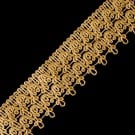 "1 7/8"" (48 MM) Scalloped Metallic Lace"