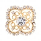 Brilliance Four Petal Clover Rhinestone Button