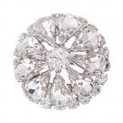 Petal Rhinestone Button