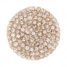 Flat Rhinestone Button