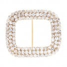 Three Row Rectangular Rhinestone Buckle