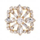 Brilliance Square Crystal Rhinestone Button