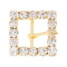 "5/8"" Square Rhinestone Buckle with Prong"