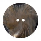 39mm Two-Hole Horn Swirl Button