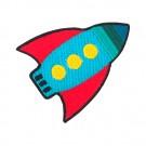 Iron On Rocket Patch