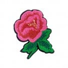 Iron On Small Pink and Red Rose Patch