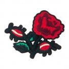 Iron On Black Petal Rose Patch