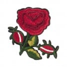 Iron On Rose and Stem Patch