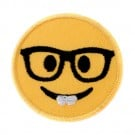 Emoji w/ Glasses Stk/Iron-on