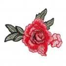 Iron On 3D Red Rose Patch