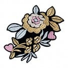 Iron On Metallic Flower Patch