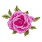 Large Peony Flower Applique