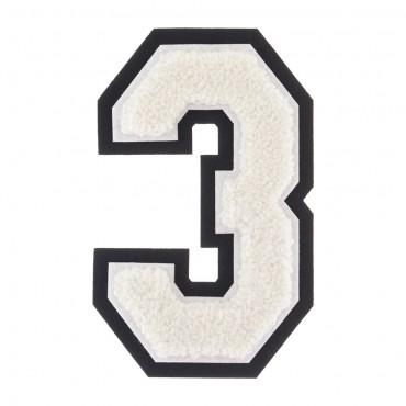 "1 1//8/"" x 2 1//2/"" Metallic Silver Pink White Felt 3D Raised Letter I Patch"