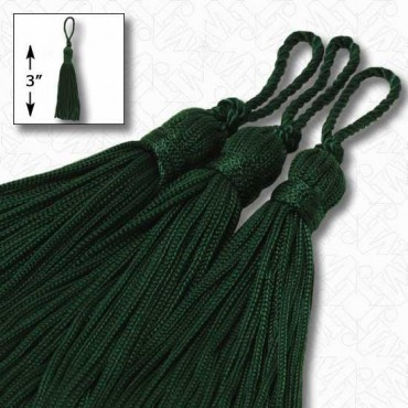"AVACODO GREEN 5.5/"" Chainette Tassels AVACODO GREEN Set of 10"