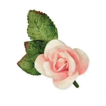 40 LOVELY TAFFETTA BLACK ROSES 18MM WIDE